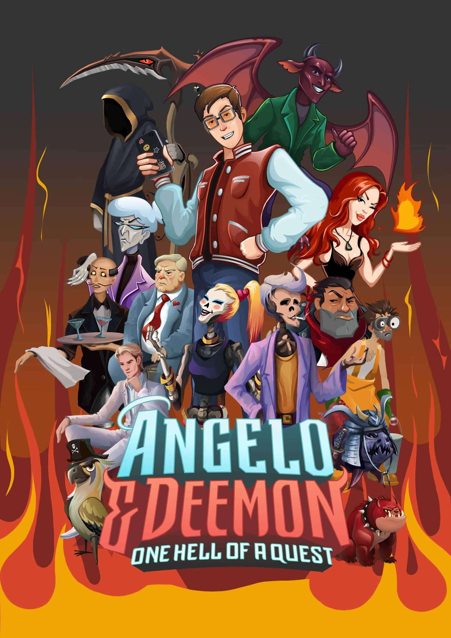 Angelo and Deemon: One Hell of a Quest (Build 4260198) [Portable] (2019) скачать торрент Лицензия
